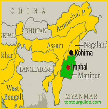 Manipur Tourism Map Capital Education Dance Festival Map Of Imphal