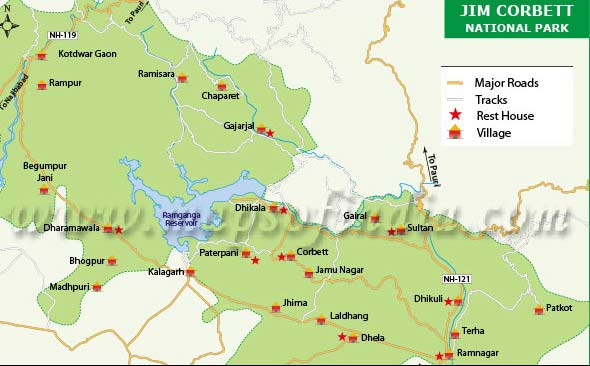 corbett national park map Corbett National Park Animals Tours Tiger Map Single Horned corbett national park map